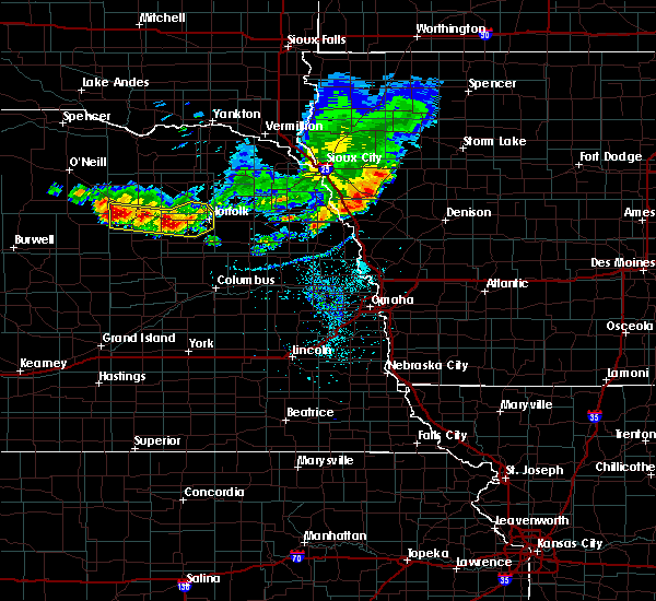 Radar Image for Severe Thunderstorms near Meadow Grove, NE at 7/6/2020 7:59 PM CDT