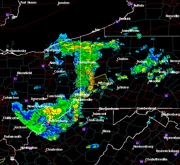 Radar Image for Severe Thunderstorms near Bradford Woods, PA at 6/30/2015 6:14 PM EDT