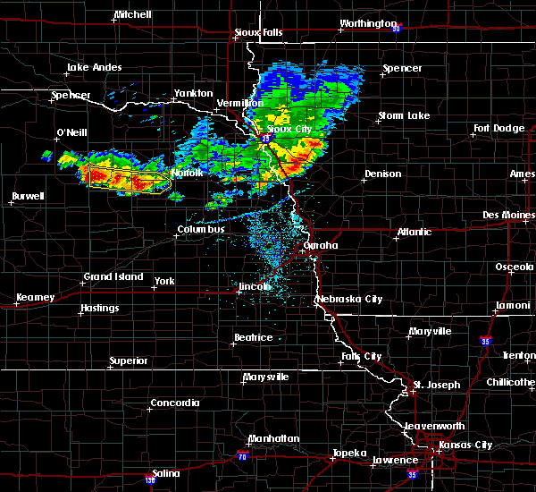 Radar Image for Severe Thunderstorms near Meadow Grove, NE at 7/6/2020 8:04 PM CDT