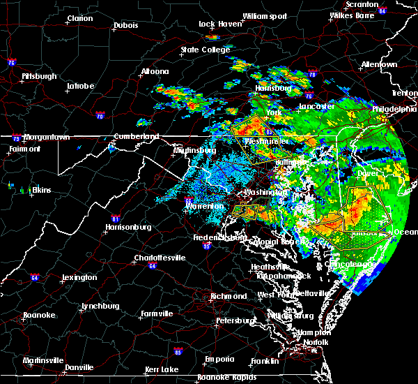 Radar Image for Severe Thunderstorms near Oxon Hill, MD at 7/6/2020 9:11 PM EDT