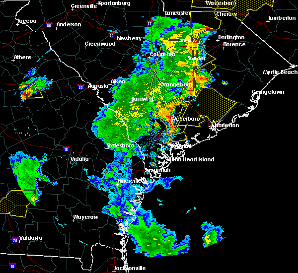 Radar Image for Severe Thunderstorms near Lincolnville, SC at 6/30/2015 6:14 PM EDT
