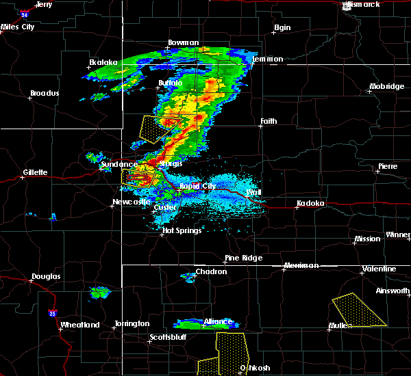 Radar Image for Severe Thunderstorms near Blackhawk, SD at 7/6/2020 7:14 PM MDT