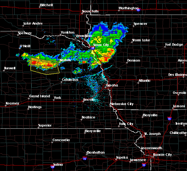 Radar Image for Severe Thunderstorms near Raeville, NE at 7/6/2020 8:15 PM CDT