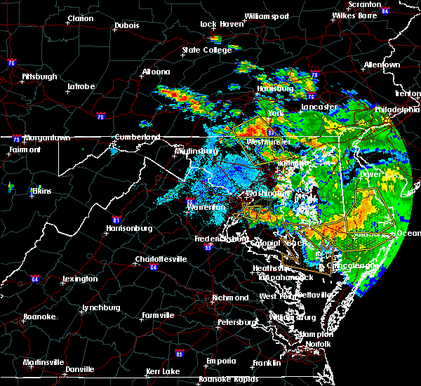 Radar Image for Severe Thunderstorms near Croom, MD at 7/6/2020 9:19 PM EDT