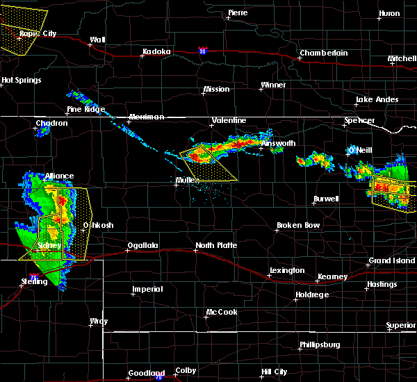 Radar Image for Severe Thunderstorms near Ainsworth, NE at 7/6/2020 8:20 PM CDT