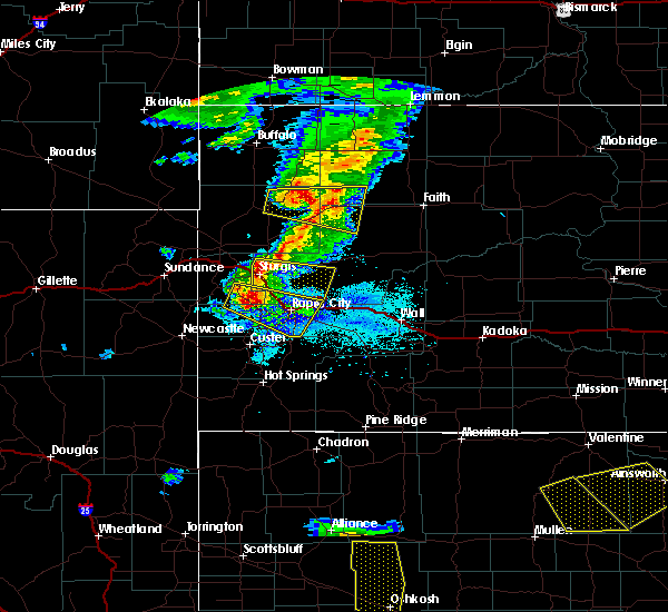 Radar Image for Severe Thunderstorms near Blackhawk, SD at 7/6/2020 7:23 PM MDT