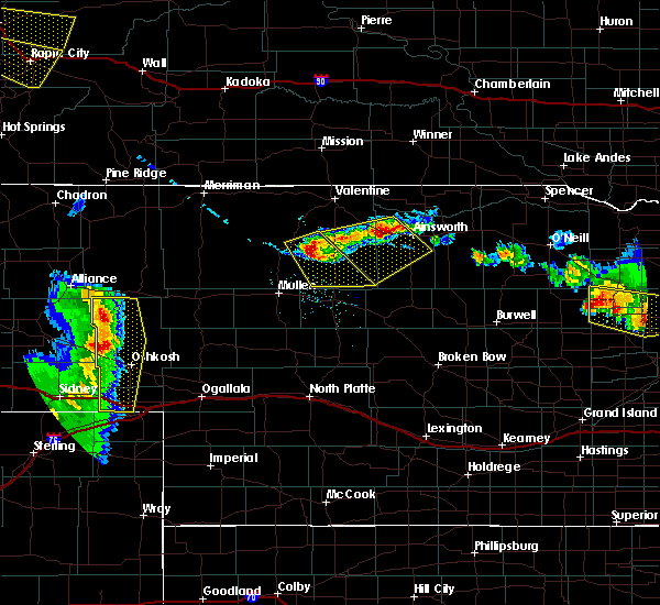 Radar Image for Severe Thunderstorms near Brownlee, NE at 7/6/2020 8:26 PM CDT