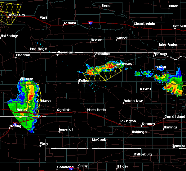 Radar Image for Severe Thunderstorms near Ainsworth, NE at 7/6/2020 8:32 PM CDT