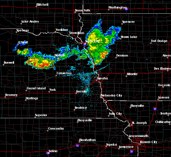 Radar Image for Severe Thunderstorms near Raeville, NE at 7/6/2020 8:39 PM CDT