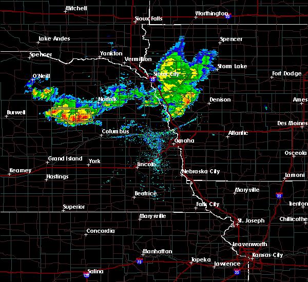 Radar Image for Severe Thunderstorms near Newman Grove, NE at 7/6/2020 8:44 PM CDT