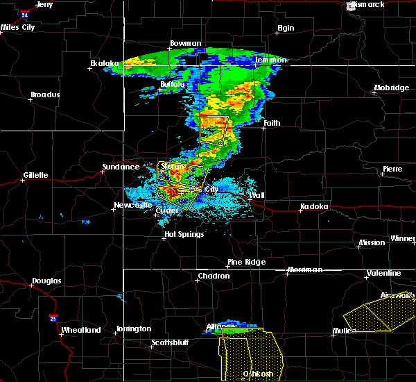 Radar Image for Severe Thunderstorms near Colonial Pine Hills, SD at 7/6/2020 7:49 PM MDT
