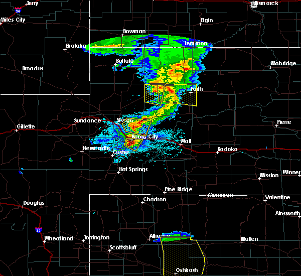 Radar Image for Severe Thunderstorms near Rapid City, SD at 7/6/2020 7:53 PM MDT