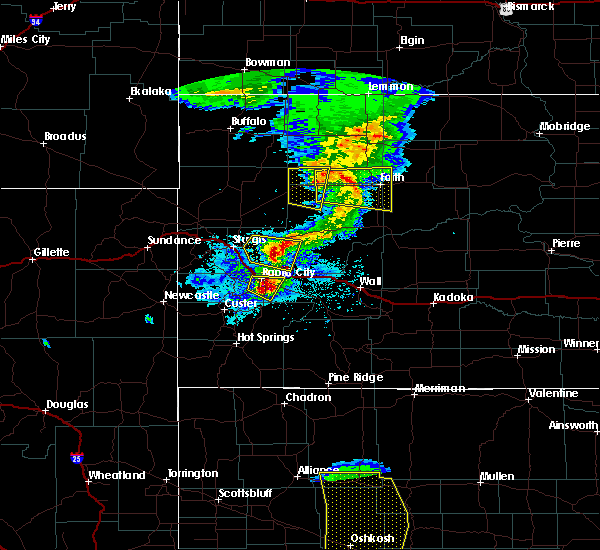 Radar Image for Severe Thunderstorms near Rapid City, SD at 7/6/2020 8:01 PM MDT