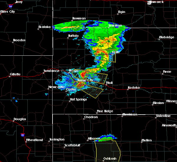 Radar Image for Severe Thunderstorms near Green Valley, SD at 7/6/2020 8:13 PM MDT
