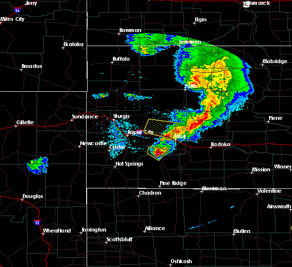 Radar Image for Severe Thunderstorms near Cottonwood, SD at 7/6/2020 9:00 PM MDT
