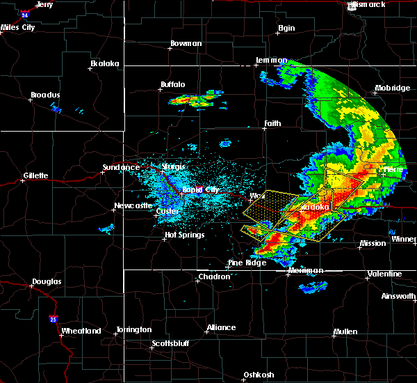Radar Image for Severe Thunderstorms near Vivian, SD at 7/6/2020 11:04 PM CDT