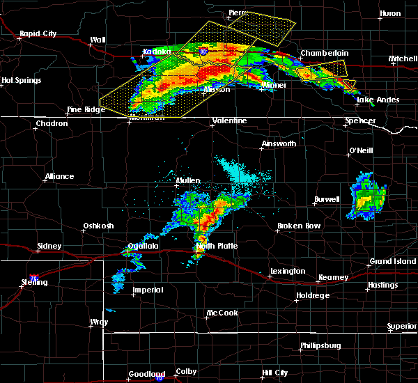 Radar Image for Severe Thunderstorms near Mission, SD at 7/6/2020 11:49 PM CDT