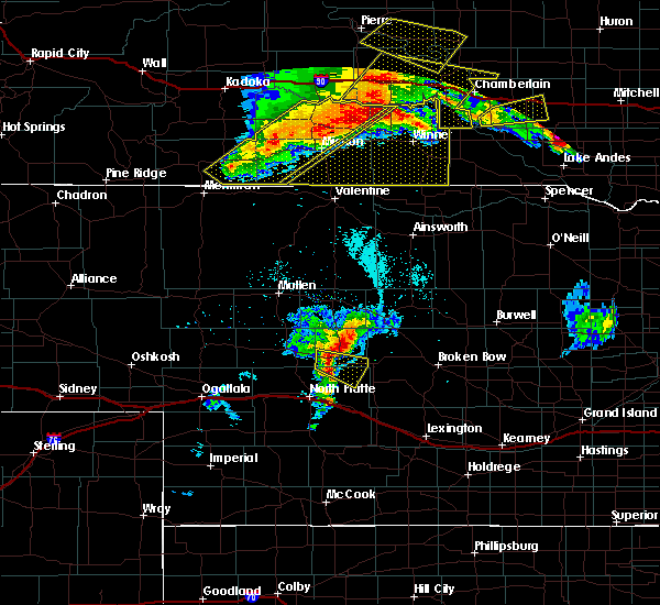 Radar Image for Severe Thunderstorms near Vivian, SD at 7/6/2020 11:59 PM CDT