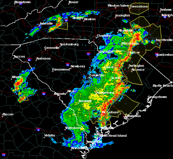 Radar Image for Severe Thunderstorms near McColl, SC at 6/30/2015 6:25 PM EDT