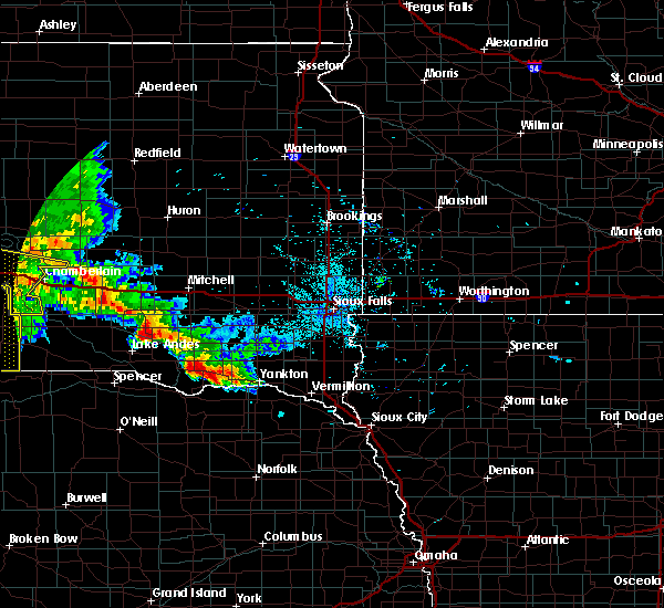 Radar Image for Severe Thunderstorms near Platte, SD at 7/7/2020 12:31 AM CDT