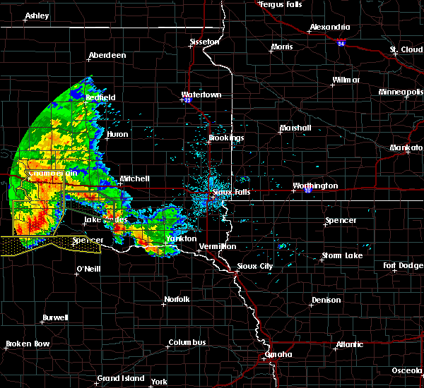 Radar Image for Severe Thunderstorms near Platte, SD at 7/7/2020 1:09 AM CDT