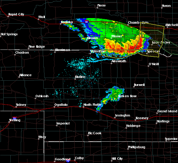 Radar Image for Severe Thunderstorms near Atkinson, NE at 7/7/2020 1:21 AM CDT