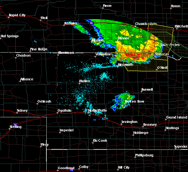 Radar Image for Severe Thunderstorms near Atkinson, NE at 7/7/2020 1:46 AM CDT