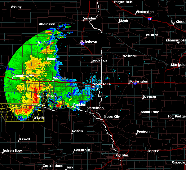 Radar Image for Severe Thunderstorms near Platte, SD at 7/7/2020 1:48 AM CDT