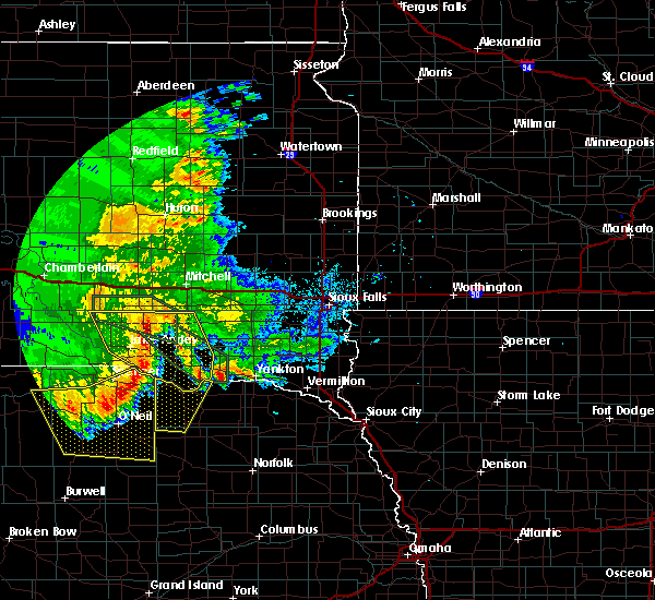 Radar Image for Severe Thunderstorms near Verdigre, NE at 7/7/2020 2:06 AM CDT