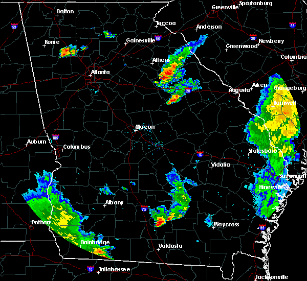 Radar Image for Severe Thunderstorms near Sparta, GA at 6/30/2015 6:28 PM EDT