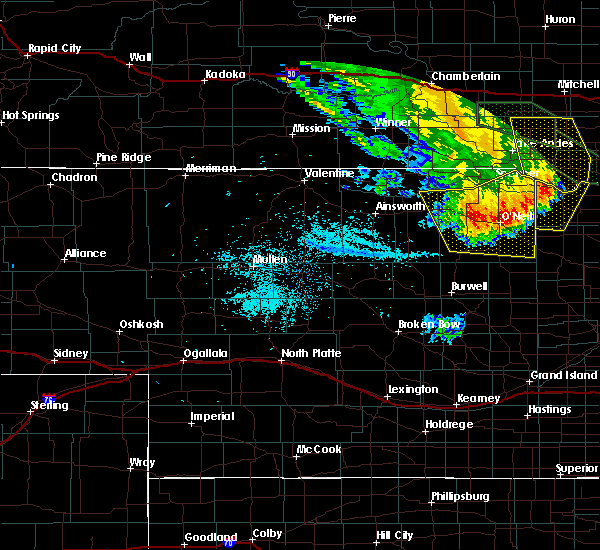 Radar Image for Severe Thunderstorms near Atkinson, NE at 7/7/2020 2:25 AM CDT