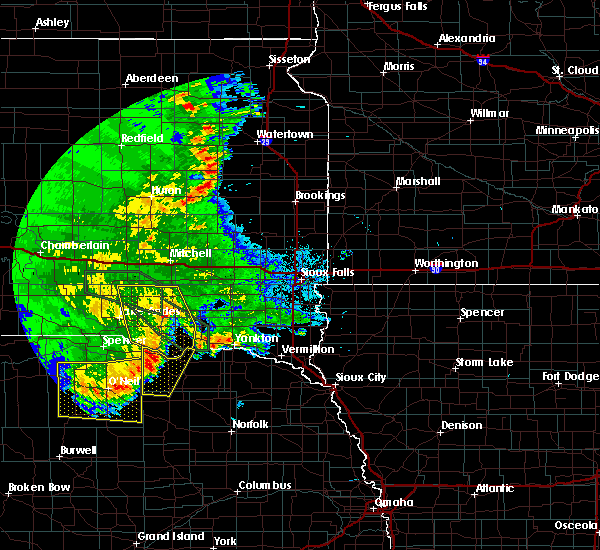 Radar Image for Severe Thunderstorms near Verdigre, NE at 7/7/2020 2:31 AM CDT
