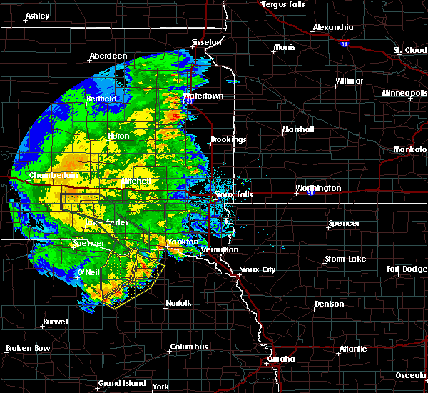 Radar Image for Severe Thunderstorms near Lindy, NE at 7/7/2020 3:09 AM CDT