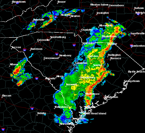 Radar Image for Severe Thunderstorms near Olanta, SC at 6/30/2015 6:28 PM EDT