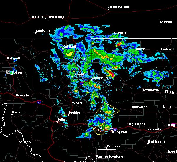 Radar Image for Severe Thunderstorms near Big Sandy, MT at 7/7/2020 1:46 PM MDT