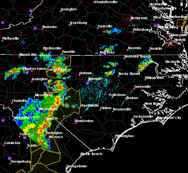 Radar Image for Severe Thunderstorms near Sanford, NC at 6/30/2015 6:32 PM EDT