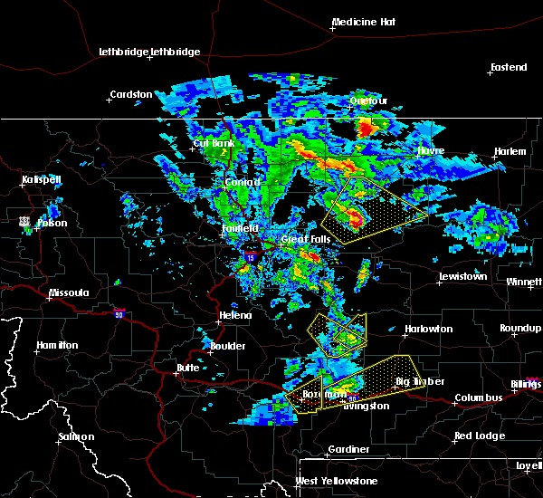 Radar Image for Severe Thunderstorms near Martinsdale, MT at 7/7/2020 1:59 PM MDT