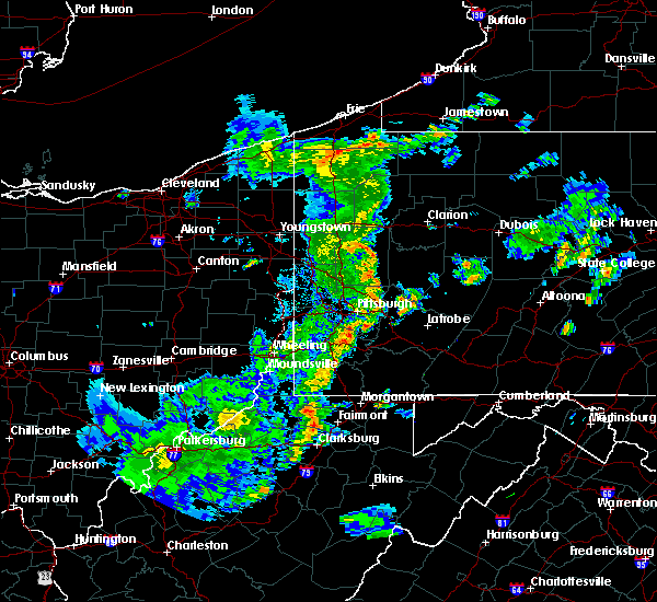 Radar Image for Severe Thunderstorms near Baldwin, PA at 6/30/2015 6:33 PM EDT