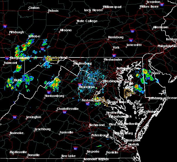 Radar Image for Severe Thunderstorms near Ellerslie, MD at 7/7/2020 5:12 PM EDT