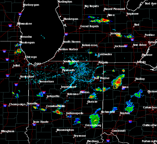 Radar Image for Severe Thunderstorms near Pandora, OH at 7/7/2020 5:45 PM EDT