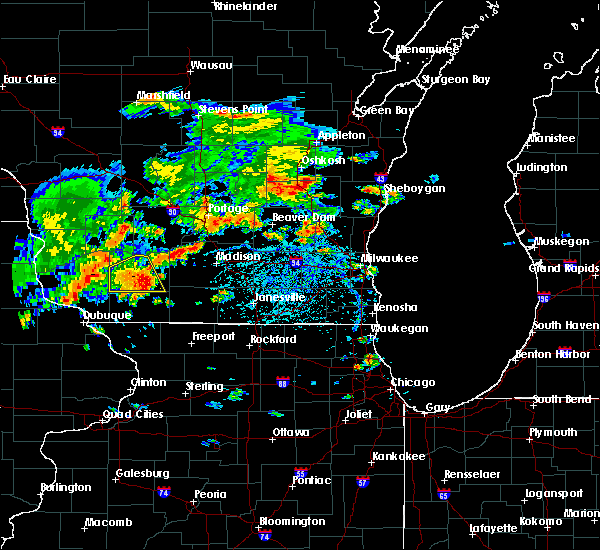Radar Image for Severe Thunderstorms near Madison, WI at 7/7/2020 4:45 PM CDT