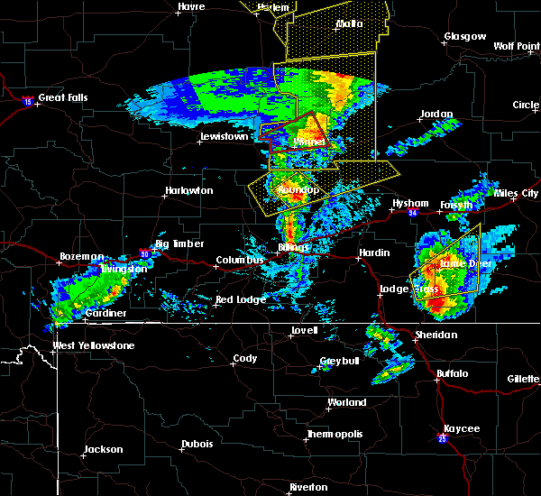 Radar Image for Severe Thunderstorms near Klein, MT at 7/7/2020 4:47 PM MDT
