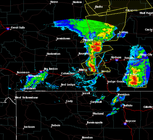 Radar Image for Severe Thunderstorms near Birney, MT at 7/7/2020 5:18 PM MDT