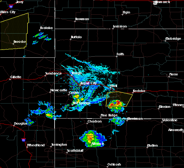 Radar Image for Severe Thunderstorms near Kyle, SD at 7/7/2020 5:56 PM MDT