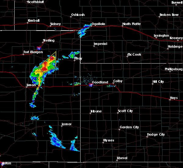 Radar Image for Severe Thunderstorms near Otis, CO at 7/7/2020 7:48 PM MDT