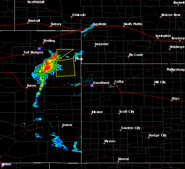Radar Image for Severe Thunderstorms near Joes, CO at 7/7/2020 8:03 PM MDT
