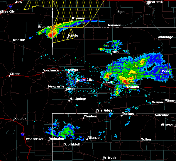 Radar Image for Severe Thunderstorms near Camp Crook, SD at 7/7/2020 8:39 PM MDT