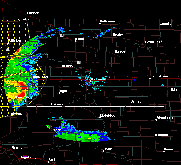 Radar Image for Severe Thunderstorms near South Heart, ND at 7/7/2020 8:52 PM MDT