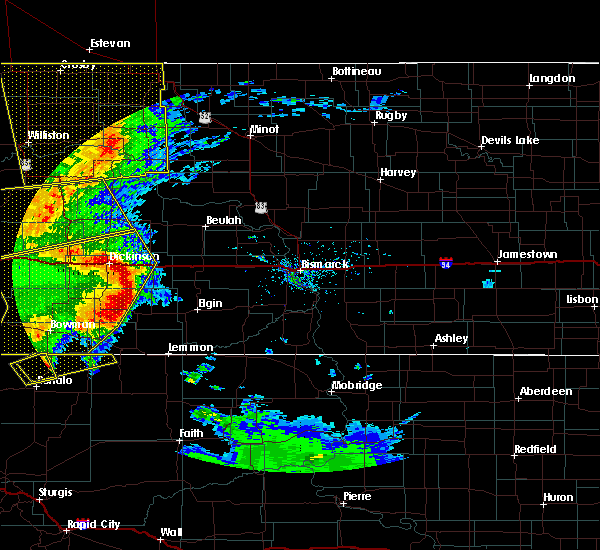 Radar Image for Severe Thunderstorms near Richardton, ND at 7/7/2020 9:16 PM MDT