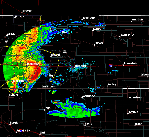 Radar Image for Severe Thunderstorms near Bucyrus, ND at 7/7/2020 9:32 PM MDT